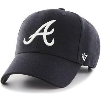 Casquette à visière courbée bleue marine unie MLB Atlanta Braves 47 Brand