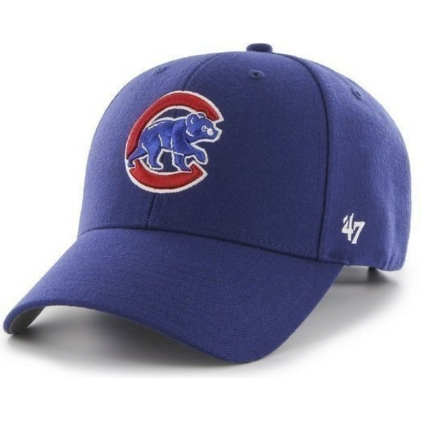 casquette-a-visiere-courbee-bleue-unie-mlb-chicago-cubs-47-brand