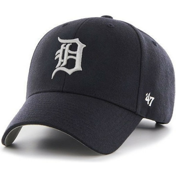 casquette-a-visiere-courbee-bleue-marine-unie-mlb-detroit-tigers-47-brand