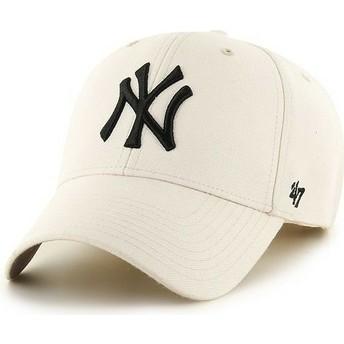 Casquette à visière courbée crème unie MLB NewYork Yankees 47 Brand