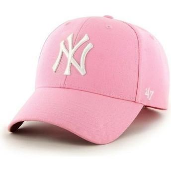 Casquette à visière courbée rose unie MLB NewYork Yankees 47 Brand