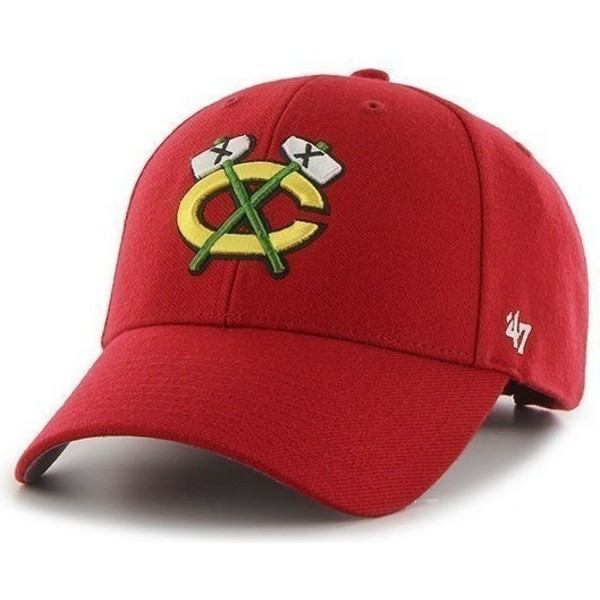 casquette-a-visiere-courbee-rouge-nhl-chicago-blackhawks-47-brand