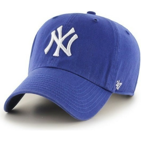 casquette-a-visiere-courbee-bleue-avec-grand-logo-frontal-mlb-newyork-yankees-47-brand