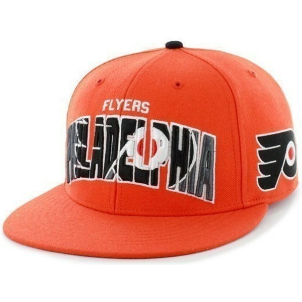 casquette-plate-orange-snapback-avec-grand-logo-frontal-nhl-philadelphia-flyers-47-brand
