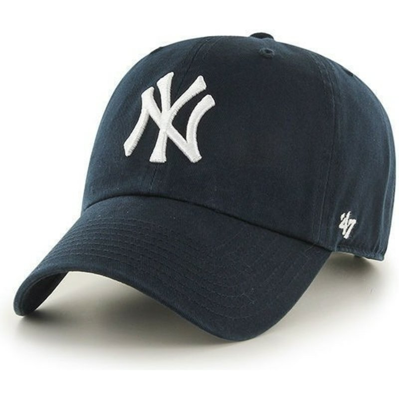 casquette-courbee-bleue-marine-new-york-yankees-mlb-clean-up-47-brand