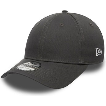 Casquette courbée grise ajustée 39THIRTY Basic Flag New Era