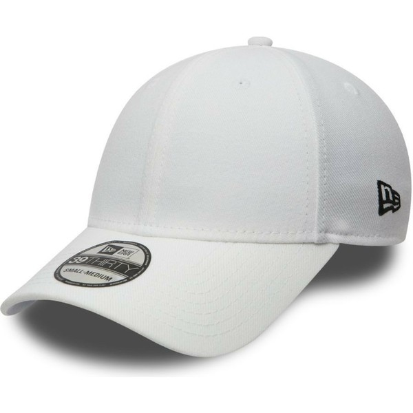 casquette-courbee-blanche-ajustee-39thirty-basic-flag-new-era