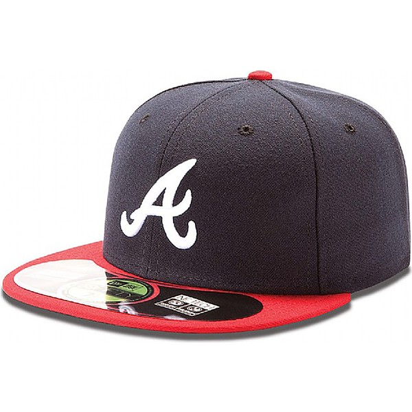 casquette-plate-bleue-marine-ajustee-59fifty-authentic-on-field-atlanta-braves-mlb-new-era