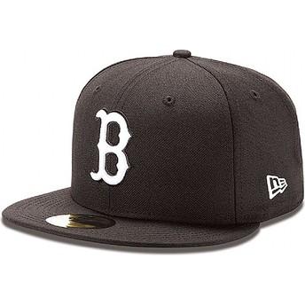 Casquette plate noire ajustée 59FIFTY Essential Boston Red Sox MLB New Era