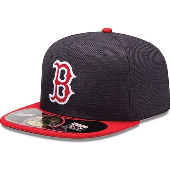 Casquette plate rouge ajustée 59FIFTY Diamond Era Boston Red Sox MLB New Era