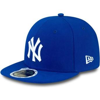 Casquette plate bleue ajustée pour enfant 59FIFTY Essential New York Yankees MLB New Era