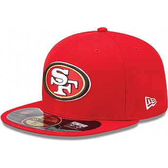 Casquette plate rouge ajustée 59FIFTY Authentic On-Field Game San Francisco 49ers NFL New Era
