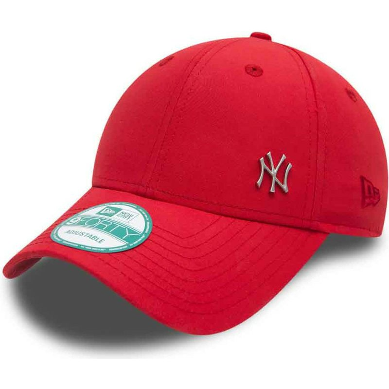 casquette courb e rouge ajustable 9forty flawless logo new york yankees mlb new era acheter en. Black Bedroom Furniture Sets. Home Design Ideas