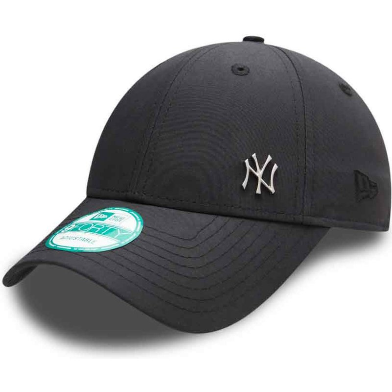 casquette-courbee-noire-ajustable-9forty-flawless-logo-new-york-yankees-mlb-new-era