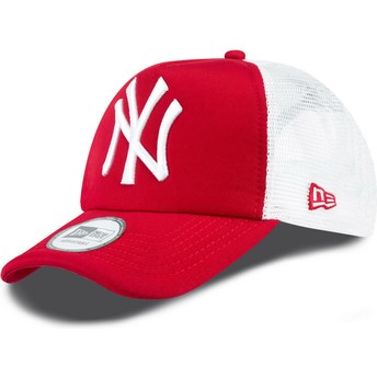Casquette trucker rouge Clean A Frame New York Yankees MLB New Era