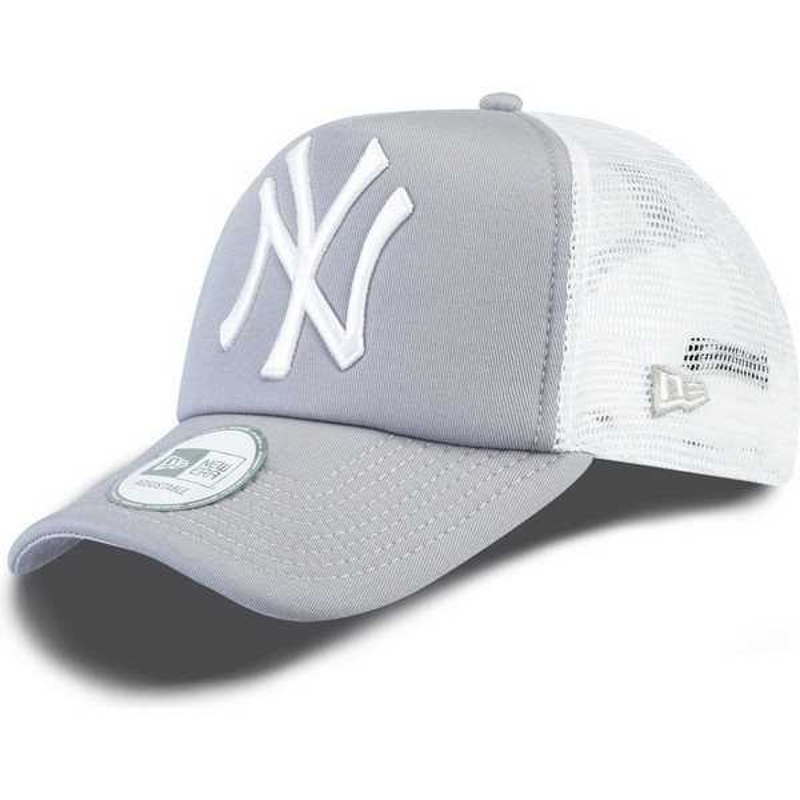 8506d06ce7477 Casquette trucker grise Clean A Frame New York Yankees MLB New Era ...
