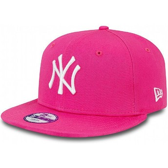 Casquette plate rose snapback ajustable pour enfant 9FIFTY Essential New York Yankees MLB New Era