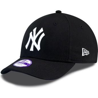 Casquette courbée noire ajustable pour enfant 9FORTY Essential New York Yankees MLB New Era