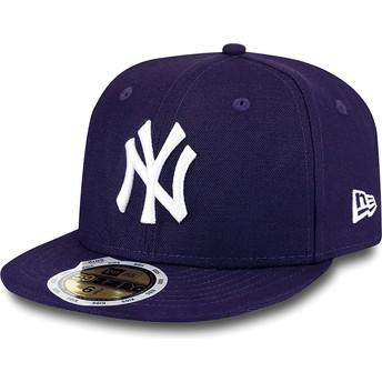 Casquette plate violette ajustée pour enfant 59FIFTY Essential New York Yankees MLB New Era